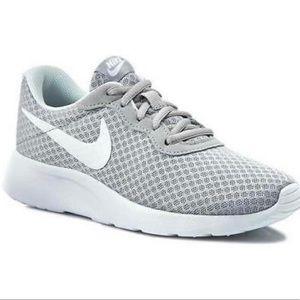 Nike Tanjun Running Sneakers Shoes Gray White
